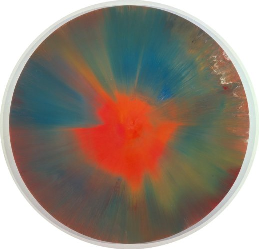 <div class=&#34;artist&#34;><strong>Damien Hirst</strong></div> (b. 1965) <div class=&#34;title&#34;><em>Beautiful Soft Exploding Rainbow Painting</em>, 2001</div> <div class=&#34;medium&#34;>Household gloss on canvas</div> <div class=&#34;dimensions&#34;>213.36 x 213.36 cm; (84 x 84 in.)</div>