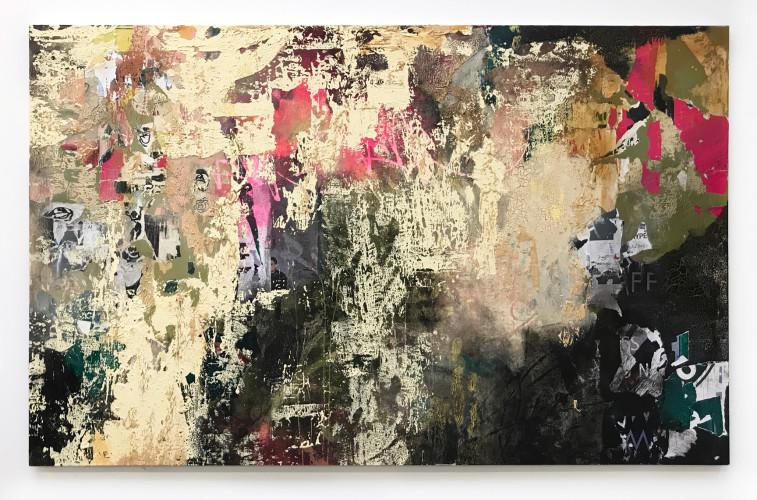 <div class=&#34;artist&#34;><strong>José Parlá</strong></div> (b. 1973) <div class=&#34;title&#34;><em>Calle Concordia, La Habana</em>, 2018</div> <div class=&#34;medium&#34;>Acrylic, collage, ink, and plaster on canvas</div> <div class=&#34;dimensions&#34;>152.4 x 243.8 cm; (60 x 96 in.)</div>