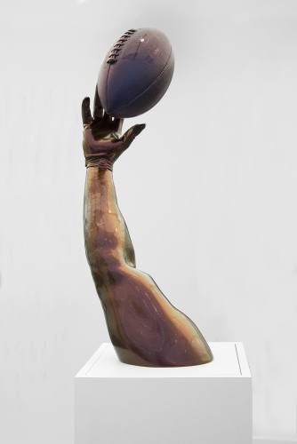 <div class=&#34;artist&#34;><strong>Hank Willis Thomas</strong></div> (b. 1976) <div class=&#34;title&#34;><em>Opportunity</em>, 2015</div> <div class=&#34;medium&#34;>Fiberglass, chameleon auto paint finish</div> <div class=&#34;dimensions&#34;>78.1 x 40 x 36.5 cm; (30 3/4 x 15 3/4 x 14 3/8 in.); 230.5 x 40 x 36.5 cm; (90 3/4 x 15 3/4 x 14 3/8 in.) (installed)</div> <div class=&#34;edition_details&#34;>Edition of 3 + 1 AP</div>