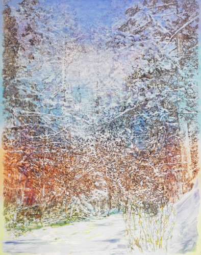 <div class=&#34;artist&#34;><strong>Ena Swansea</strong></div> (b. 1966) <div class=&#34;title&#34;><em>frozen creek</em>, 2017</div> <div class=&#34;signed_and_dated&#34;>Signed, titled and dated on the reverse</div> <div class=&#34;medium&#34;>Oil and acrylic on linen</div> <div class=&#34;dimensions&#34;>289.6 x 228.6 cm; (114 x 90 in.)</div>