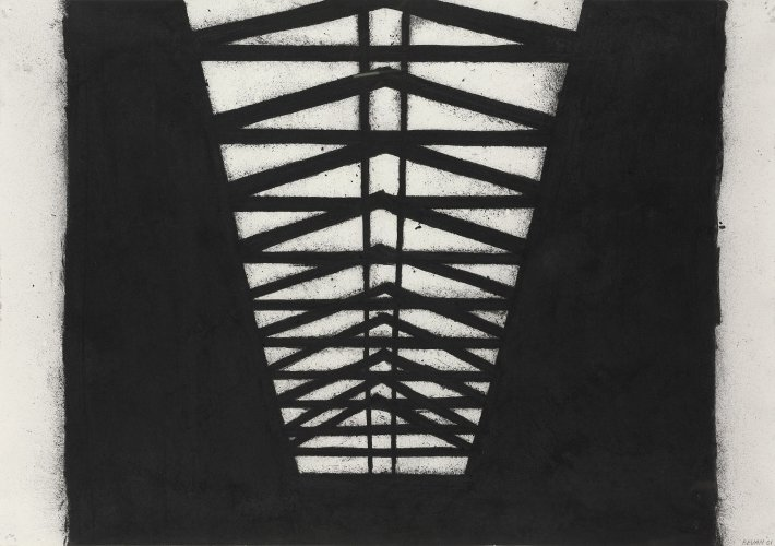 <div class=&#34;artist&#34;><strong>Tony Bevan</strong></div> (b. 1951) <div class=&#34;title&#34;><em>Black Rafters</em>, 2001</div> <div class=&#34;medium&#34;>Charcoal on Paper</div> <div class=&#34;dimensions&#34;>84.9 x 120.7 cm; (33 3/8 x 47 1/2 in.)</div>