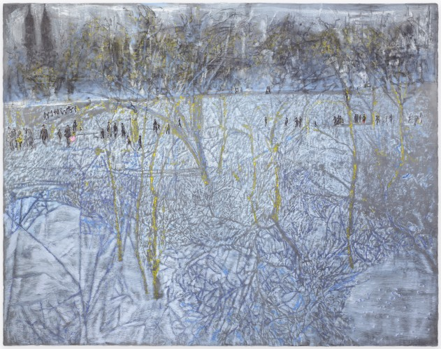 <div class=&#34;artist&#34;><strong>Ena Swansea</strong></div> (b. 1966) <div class=&#34;title&#34;><em>twilight snow in Central Park</em>, 2017</div> <div class=&#34;signed_and_dated&#34;>Signed, titled and dated on the reverse</div> <div class=&#34;medium&#34;>Oil and acrylic on graphite on linen</div> <div class=&#34;dimensions&#34;>228.6 x 289.6 cm; (90 x 114 in.)</div>