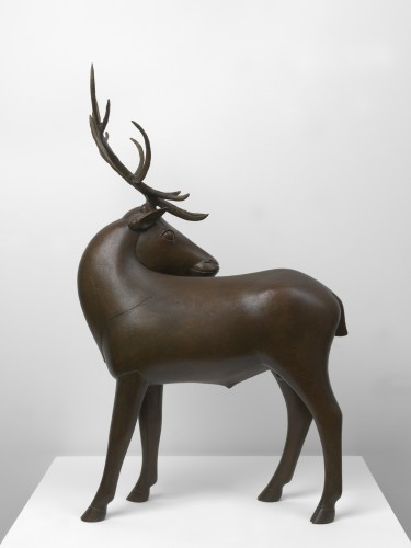 <div class=&#34;artist&#34;><strong>François-Xavier Lalanne</strong></div> (1927 - 2008) <div class=&#34;title&#34;><em>Wapiti (Petit)</em>, 1988</div> <div class=&#34;signed_and_dated&#34;>Signed and numbered</div> <div class=&#34;medium&#34;>Bronze</div> <div class=&#34;dimensions&#34;>69 x 44 x 40 cm; (27 1/8 x 17 3/8 x 15 3/4 in.)</div> <div class=&#34;edition_details&#34;>Edition of 8 + 4 AP (AP 3/4)</div>