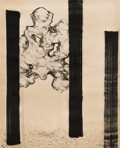 <div class=&#34;artist&#34;><strong>Qin Feng</strong></div> (b. 1961) <div class=&#34;title&#34;><em>Landscape of Desire No. 27</em>, 2009</div> <div class=&#34;medium&#34;>Coffee and ink on Simian paper</div> <div class=&#34;dimensions&#34;>125 x 100 cm; (49 1/4 x 39 3/8 in.)</div>