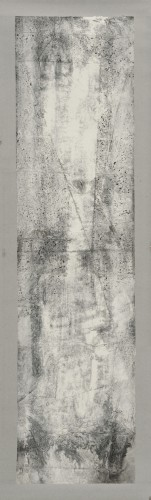 Zheng Chongbin, White Reflection, 2012,  Ink and acrylic on xuan paper, 272 x 68.5 cm