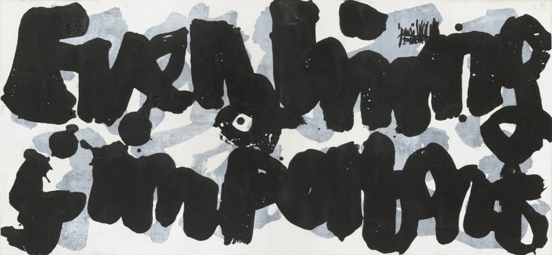 Yang Jiechang, Everything Is Important, 2006, Ink and acrylic on canvas, 45 x 95 cm