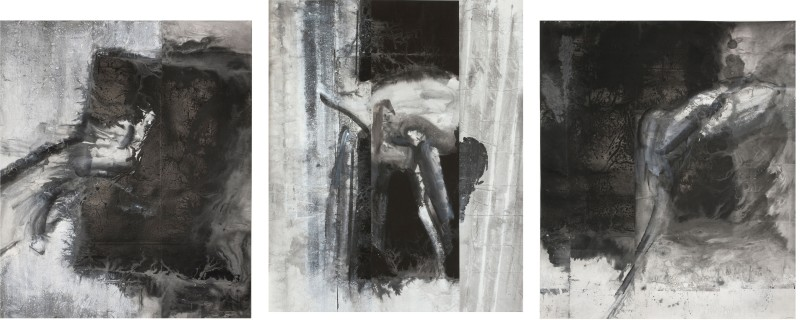 Triptych 三联, 2013, set of three hanging scrolls (plates 35–37)