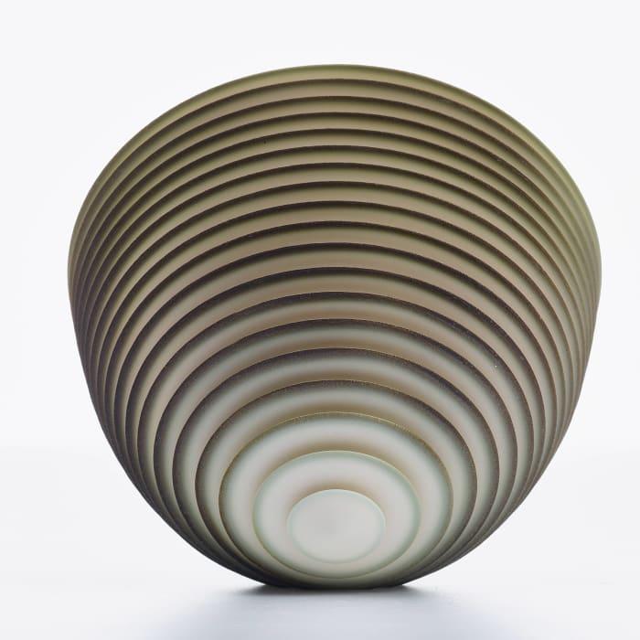 Nicholas Lees, Medium Green Floating Bowl 21.09, 2021