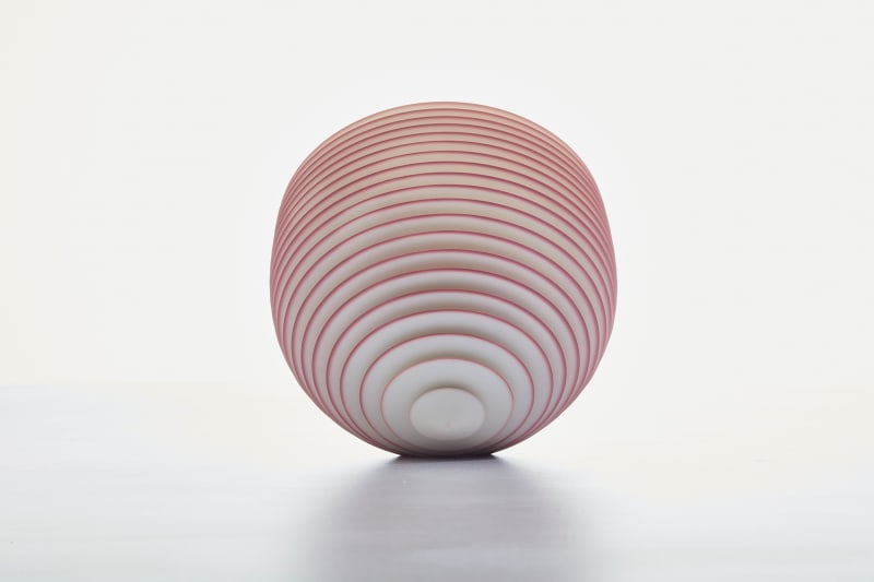 Nicholas Lees, Small red/blue floating bowl 21.36, 2021