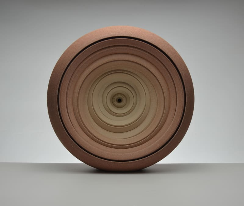 Matthew Chambers, Earth Red Slow Twist sculpture, 2020