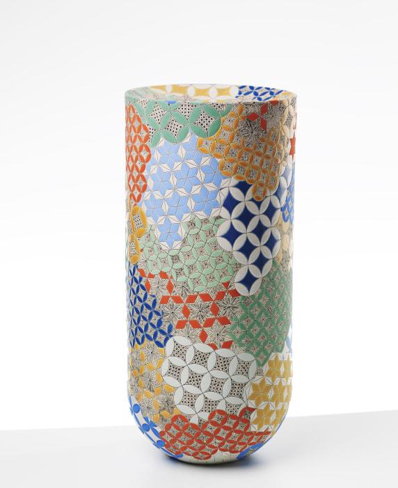 Frances Priest, Vase Form, Grammar of Ornament, Byzantine No 3 Colour, 2020