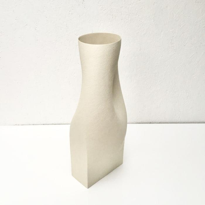 Ashraf Hanna, Twisted White Vessel Form, 2021