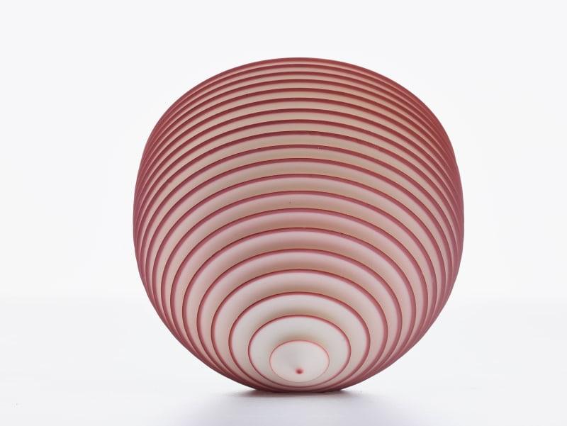 Nicholas Lees, Medium Red Floating Bowl 21.10, 2021