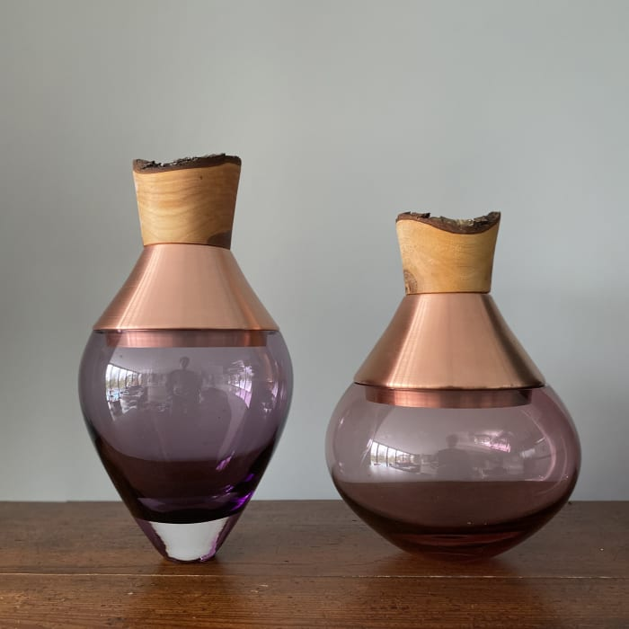 Pia Wustenberg, Small India Stacking Vessel II - Rose and Copper, 2020