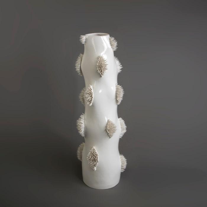 Ikuko Iwamoto, Tall Spiky Vase, 2021