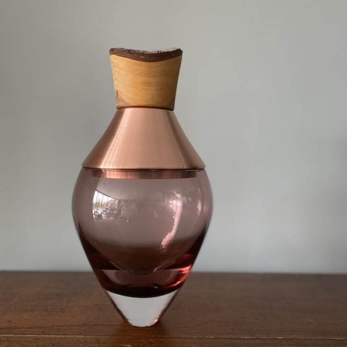 Pia Wustenberg, Small India Stacking Vessel I- Rose and Copper, 2020