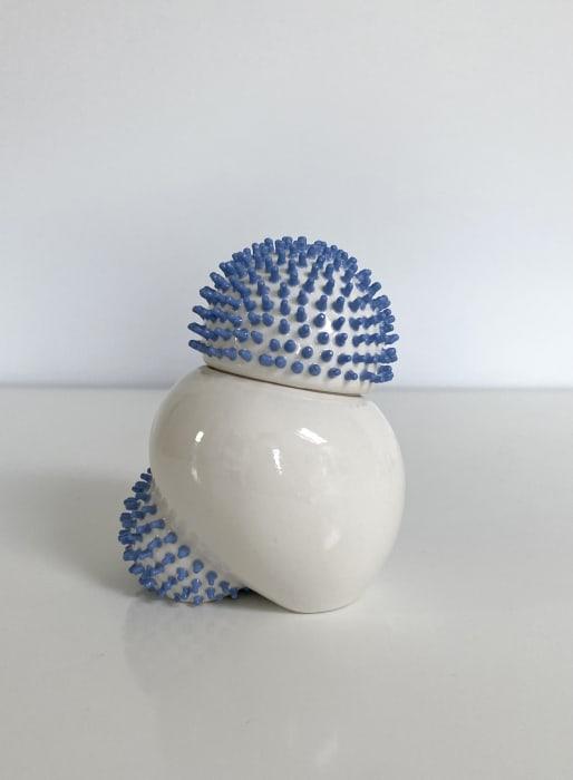 Ikuko Iwamoto, Sea urchin container - light blue, 2021