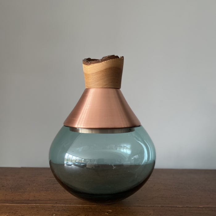 Pia Wustenberg, Small India Stacking Vessel II - Blue and Copper, 2020