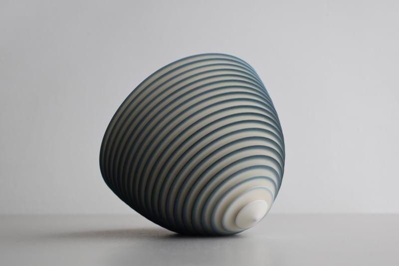 Nicholas Lees, Small Teal Floating Bowl 21.41, 2021