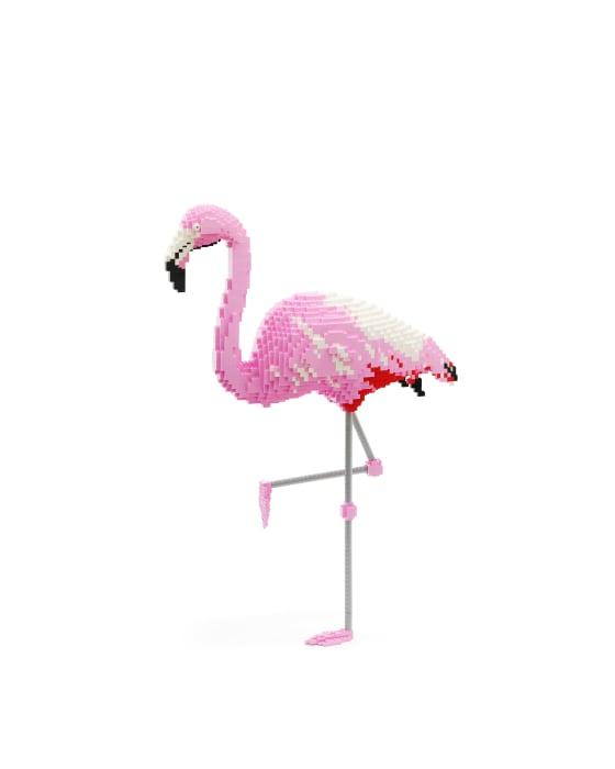 Dean West & Nathan Sawaya, Chilean Flamingo, 2019