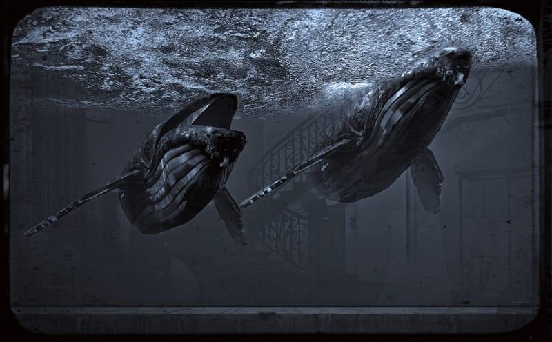 Jan Gulfoss, Deux baleines, c. 2013-2016