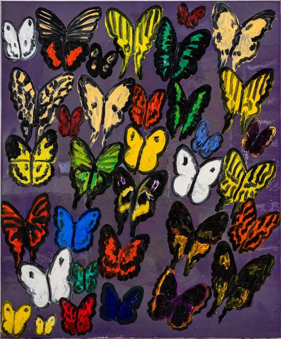 Hunt Slonem, Color Purple I