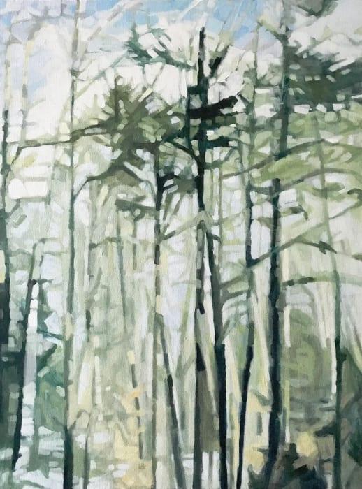Liz Hoag, Olive Vertical Abstract