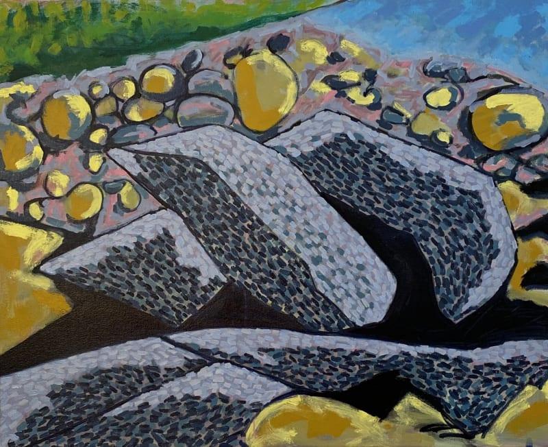 Richard Keen, Pebble Beach Rocks No. 7 : Monhegan , 2021