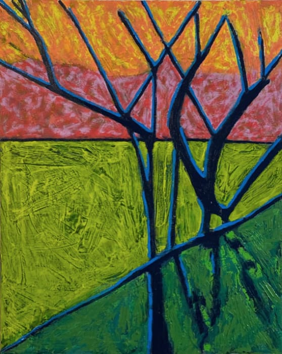 Richard Keen, Blue Trees No. 8, Monhegan