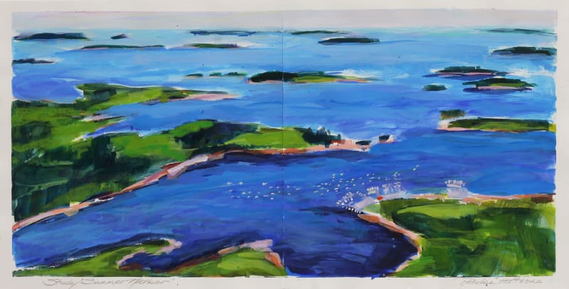 Phoebe Porteous, Study for Summer Harbor (Aerial View Freeport)