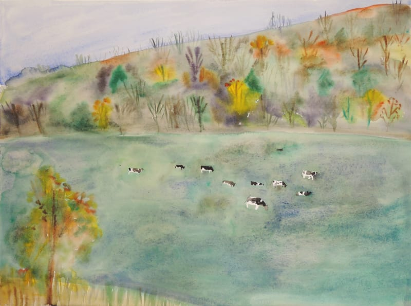 Frances Hynes, Autumn Landscape with Herd of Cows
