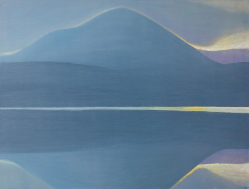 Jane MacNeill, Twilight on the loch in winter (Loch Morlich and Carn Eilrig), 2021