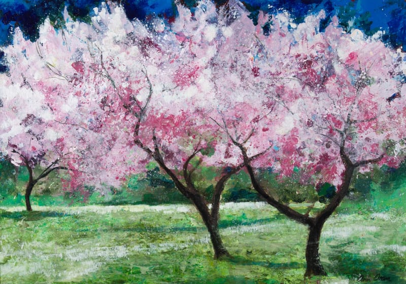 Ann Oram, Blossom Trees in the Meadow, 2021
