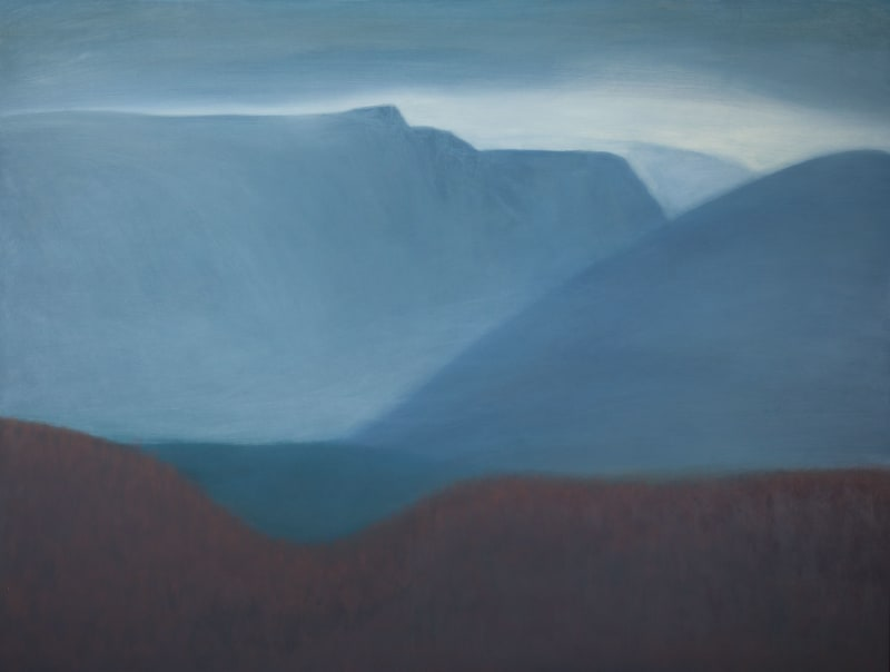 Jane MacNeill, Mountain Pass in red and Blue (Lairig Ghru), 2020