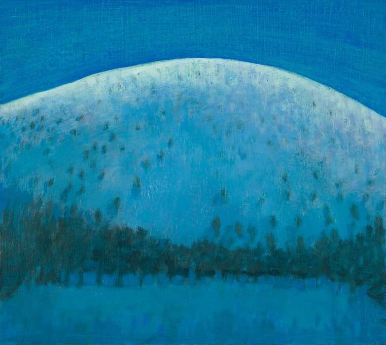 Jane MacNeill, Moonlight on the hill above the Green Lochan (Creag nan Gall), 2021