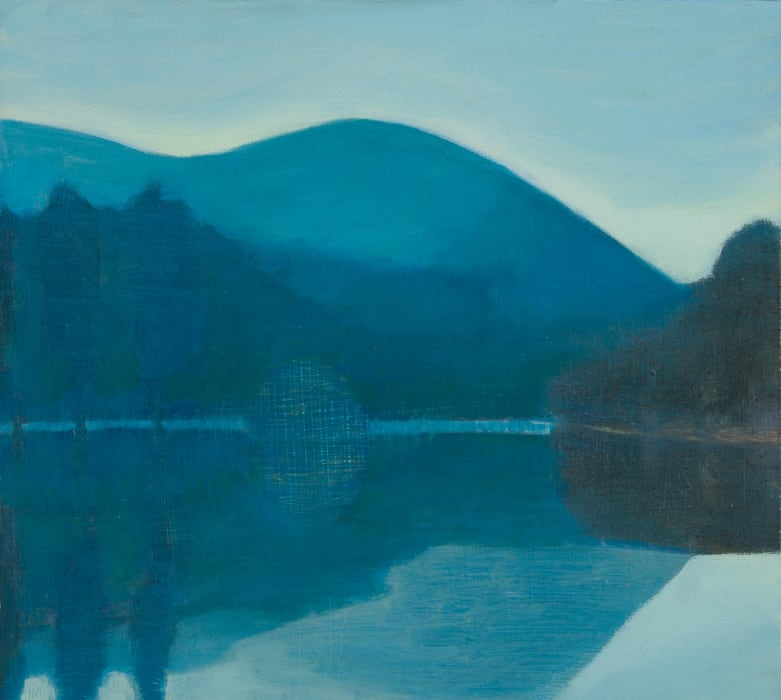 Jane MacNeill, Stillness on the loch (Loch an Eilein), 2021