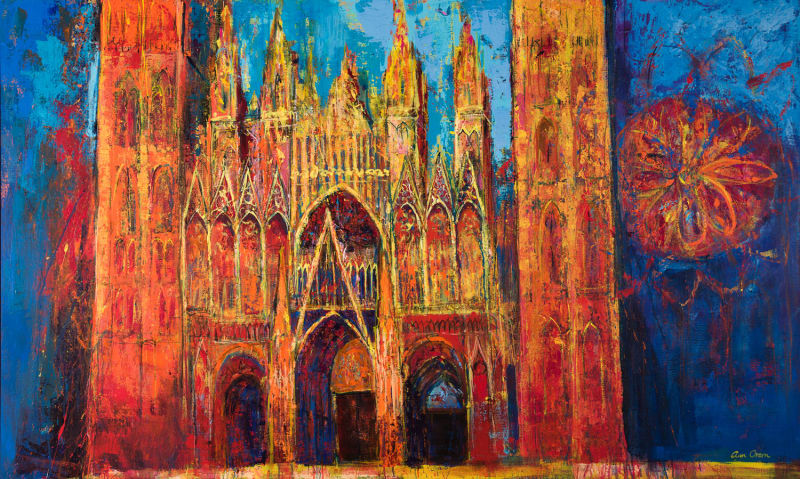 Ann Oram, Glowing Facade, Rouen Cathedral
