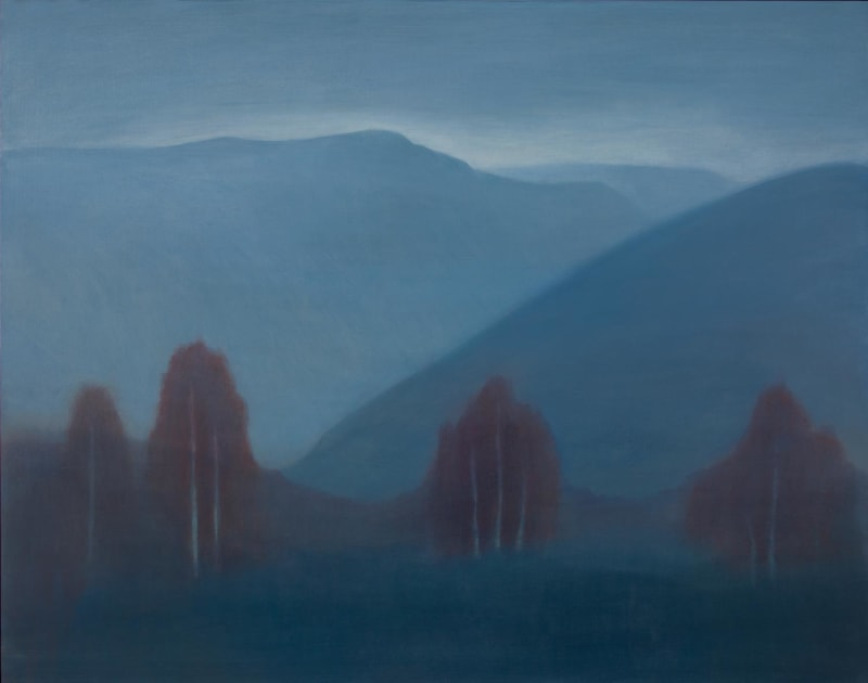 Jane MacNeill, Mountain Pass with Red Birches, 2021