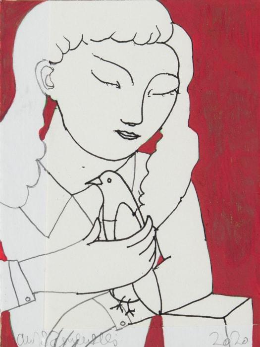 Adrian Wiszniewski, Girl with Bird