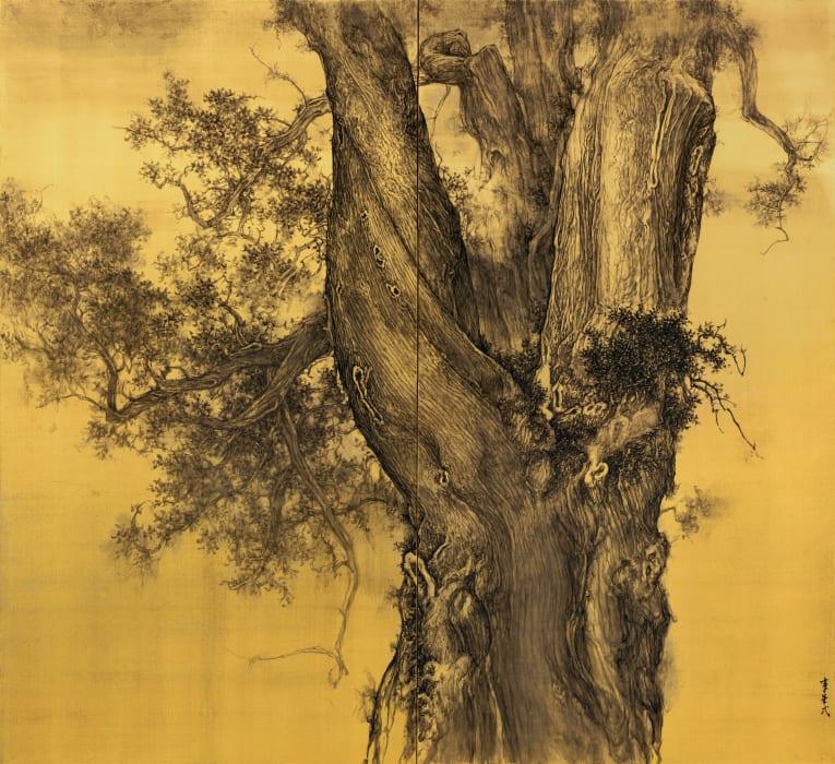 Li Huayi 李華弌, Pine Rooted in Mount Taishan 《根盤泰山》, 2018