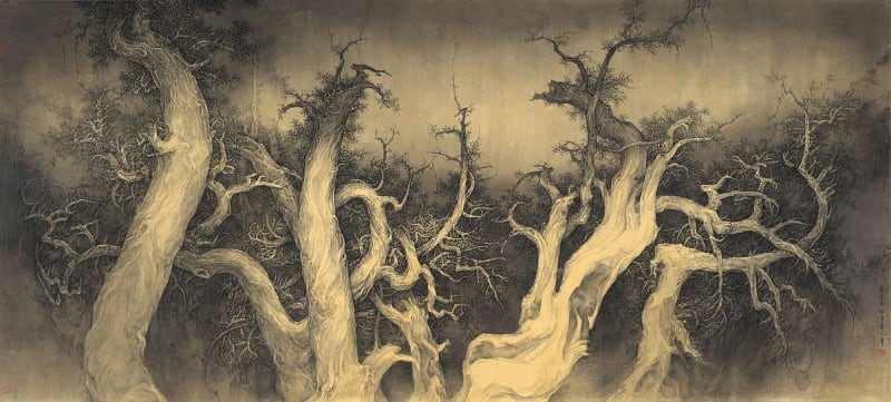 Li Huayi 李華弌, Dancing Cypress Under the Moon《月柏圖》, 2010