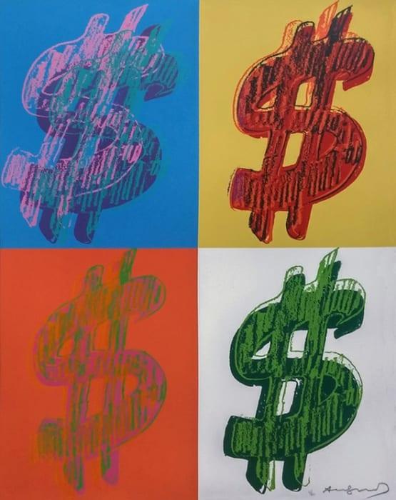 Andy Warhol, Dollar Sign Quadrant, 1982