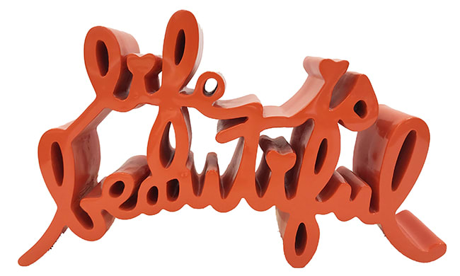 Mr. Brainwash, Life is Beautiful (Orange), 2015