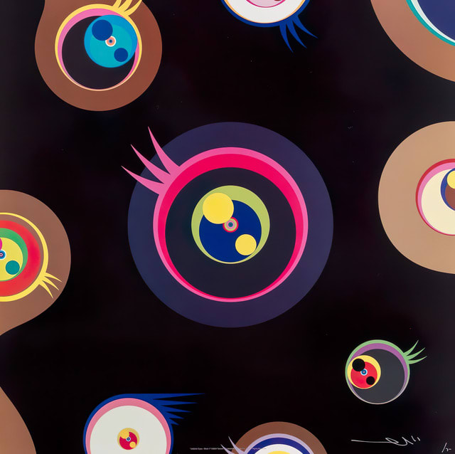 Takashi Murakami, Jellyfish Eyes (Black I), 2004