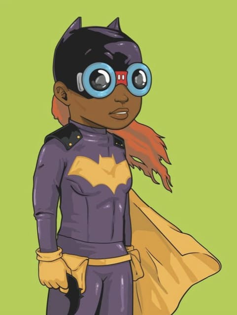 Hebru Brantley, Batgirl (Green Variant), 2018