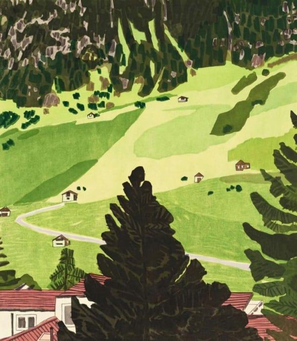 Jonas Wood, 4 Landscapes: Summer, 2020