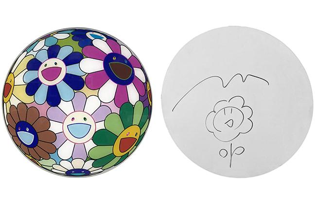Takashi Murakami, Flowerball Disc Original Drawing, 2007