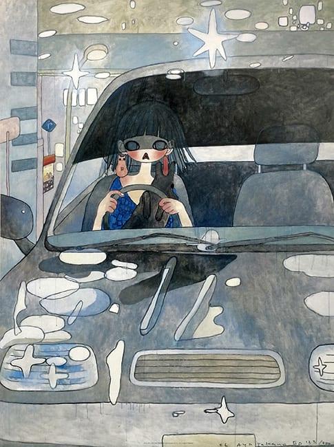 Aya Takano, Drive with a Night Dog, 2006