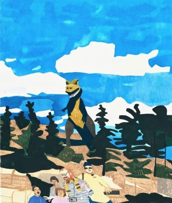 Jonas Wood, 4 Landscapes: Fall, 2020