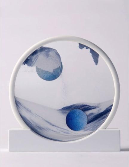 Daniel Arsham, Sandcircle (Blue) , 2017